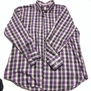 Peter Millar Mens XL Button Ip Plaid Shirt AGC1896